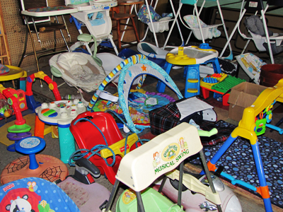 Strollers, High Chairs, Swings, Baby Gyms